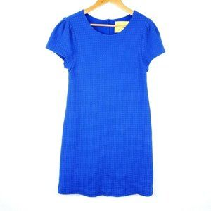 Anthropologie Maeve Quilted Royal Blue Midi Dress
